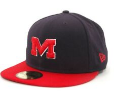New Era 59fifty Ole Miss Rebels Size 7 1/8 BRAND NEW cap hat 2-tone navy and red