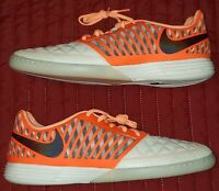 Nike  Lunargato II 2 Low Top Size 12 Orange Indoor Soccer Shoes 580456-128