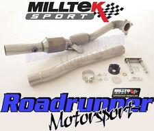"MILLTEK SSXAU312 GOLF GTI MK5 di scarico 3"" largebore il tubo verticale & SPORT CAT 200 CELLE"