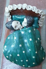 "Ceramic Couple in Bed for Day of the Dead (4 1/2"" long) circa 1999"