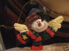 New Resin Made Angel Snowman Christmas Ornament-Cutie!