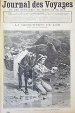 JOURNAL DES VOYAGES N° 796 de 1892 CALIFORNIE CHERCHEURS D OR  CHRISTOPHE COLOMB