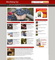 WINE MAKING TIPS WEBSITE WITH FULLY STOCKED UK AFFILIATE STORE + DOMAIN