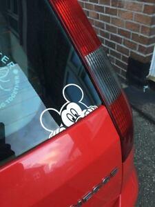 Mickey Mouse Peek DISNEY DECAL STICKER CAR WINDOW