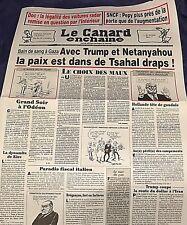 LE CANARD ENCHAÎNÉ n°5090*TRUMP-IRAN & NETANYAHOU**ROBOT DE COMBAT**TAPIE TRAFIC