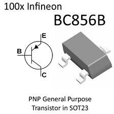 100x PNP Transistor BC856B BC856 SOT23 On Tape Infineon