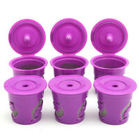 6 x Refillable Coffee Capsule Reusable K-cup Filter For Keurig 2.0 & 1.0 Machine