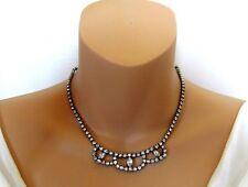 Sherman Vintage Elegant Necklace With Sparkling Clear Rhinestones.