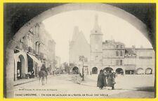 cpa 33 - LIBOURNE Place de l'HÔTEL de VILLE Epicerie L. THIBEAU Cave Libournaise