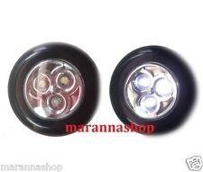 SET 2 LAMPADE FARETTI PORTATILI A LED TONDE A BATTERIA CON ADESIVO STICK LAMP