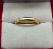 Lovely Plain Narrow 22ct Gold Wedding Ring Size L.1/2