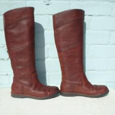 Timberland Leather Boots Uk 3 Eur 36 Womens Ladies Flat Sexy Pull on Brown Boots