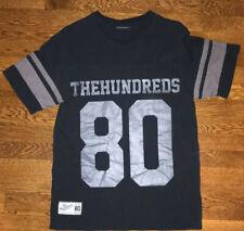 The Hundreds # 80 Football Jersey T-Shirt Black Short Sleeve Size Medium