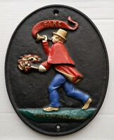 """Cast Metal Hand Painted Wall Art (10.5""""x 8.5"""")"""