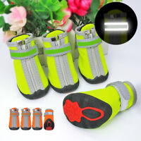 Reflective Warm Small Dog Shoes Paw Boots Booties Snow Rain Anti-slip Shoes