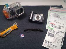 Canon PowerShot A640 Camera & Original Underwater Case Bundle Excellent Cond.