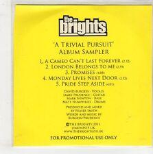 (GQ502) The Brights, A Trivial Pursuit 5 track sampler - 2011 DJ CD
