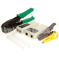 RJ45 RJ11 Cat5e Cat6 LAN Network Tool Kit Cable Tester Crimper Plug Wire Cutter