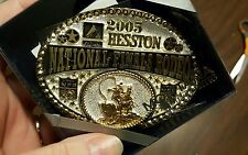 2005 Hesston National Finals Rodeo Montana Silversmith belt buckle New In Box