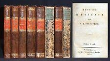 VELDE Sämmtliche Schriften 8 Bände 1837 Komplett! RAR Literatur