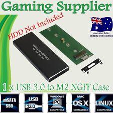 M.2 NGFF SSD SATA TO USB 3.0 External Enclosure Storage Case Adapter Aluminium
