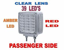 39 LED Double Face Turn Signal (R/H) Amber/RED LED w/Clear   SEMI TRUCK FENDER