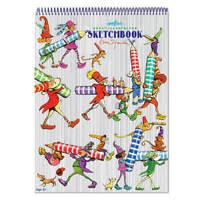 Eeboo : Striped Biggies Sketchbook