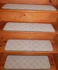 "14 Step  9"" x 30"" + Landing 31"" x 30"" Stair Treads Staircase Wool Blend Carpet ."