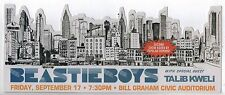 KILLER MINT NY SKYLINE BEASTIE BOYS SAN FRANCISCO CONCERT HANDBILL