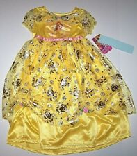 Nwt New Disney Princess Belle Beauty and Beast Nightgown Pajamas Costume Girl