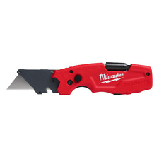 FASTBACK 6-in-1 Folding Knife with 3 in. Blade Metal Box Cutter Worksite Red New