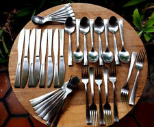 36pcs - Cambridge Stainless CBS129 Modern Flatware Knives - Forks - Spoons