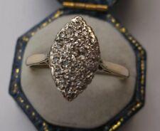 WOMEN'S DIAMOND CLUSTER impostazione anello 9ct Oro Taglia Q peso 2.6g timbrato Qualità