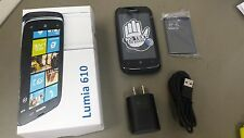 Excellent InBox Nokia Lumia 610 - 8GB - Black (Unlocked) Smartphone. OEM Extras