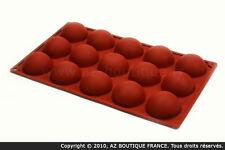 Paderno  Moule demi-sphère | Moule flexible en silicone - 15 demi-sphères