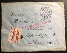 1916 Gablonz Austria KUK Military Censored Cover To Copenhagen Denmark WWI