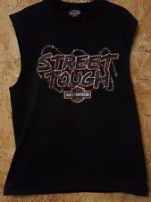 Harley Davidson T Shirt Tank Sleeveless Street Tough Barbed Wire Live Free Die L