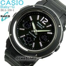 CASIO BABY-G LADIES DIGITAL WATCH BGA-150-1B FREE EXPRESS BLACK BGA-150-1BDR
