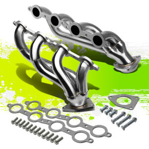 FOR 02-16 CHEVY SILVERADO LH+RH STAINLESS STEEL RACING EXHAUST HEADER MANIFOLD