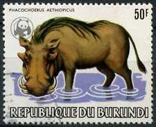 Burundi 1983 SG#1405, 50f Warthog, Animal Optd WWF Emblem Used Cat £130 #D89453
