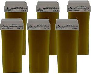 Dermawax Roll-on  Oliven Wachspatronen Warmwachs zur Haarentfernung Enthaarung