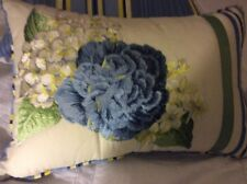 Waverly  Embroidered Floral Flourish 14x22 Decorative Pillow