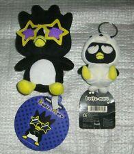 Sanrio Badtz Maru w/ Star Glasses Plush & Keychain w/ TAG Lot Hello Kitty Friend