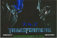 TRANSFORMERS MOVIE POSTER Ultra Rare! WILDING + Protect & Destroy Mini-Sheet 's