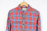 Abercrombie & Fitch Men Casual Shirt Red Check Cotton size L