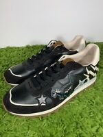 Coach Size 9.5 G2025 Low Top Men Shoe Designer Dinosaur RARE Shark Star Black