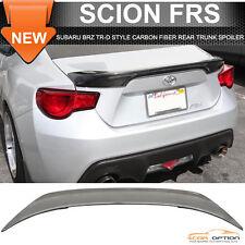 Fit 13-17 Scion FRS Subaru BRZ Rear Trunk Spoiler TR-D Style Carbon Fiber