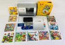 Nintendo 3DS Black Handheld System With 10 Games CIB Mario & 2GB SD Storage Card