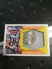 2012 Topps Magic Gridiron Coins Rob Gronkowski Patriots 04/10 Massachusetts SSP