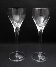 PAIR ROYAL DOULTON CRYSTAL STEMMED WINE GLASSES GOBLETS QUALITY CONTEMPORARY